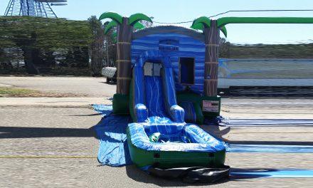 Wet Moon Bounce Slide Combo